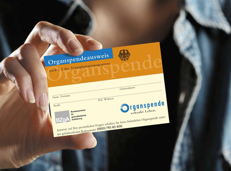 Organspendeausweis. Foto: Bundeszentrale für gesundheitliche Aufklärung
