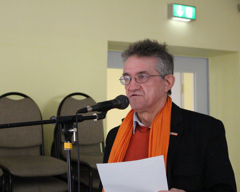 Klaus Sommerfeld bei einer Rede